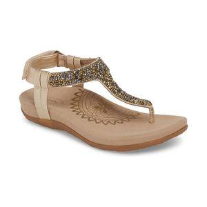 Aetrex Gold Jade Comfort Sandals